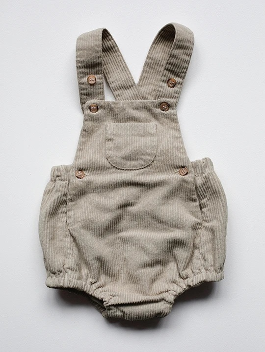 The Simple Folk - Smekkbuxur - Oatmeal / The Overall Romper